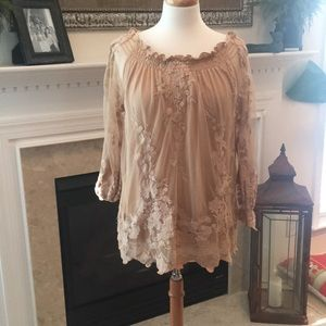 Gorgeous Marled Reunited Clothing Lace Top